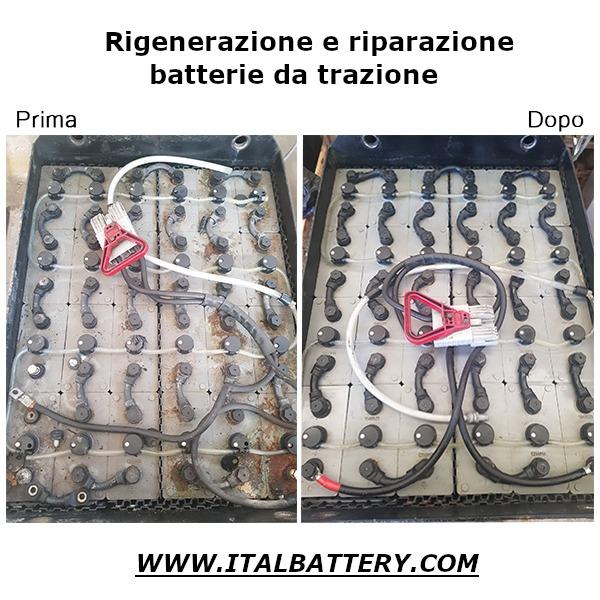 rigenerazione riparazione batterie muletto